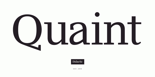1.Fresh Free Font Of The Day  Didactic