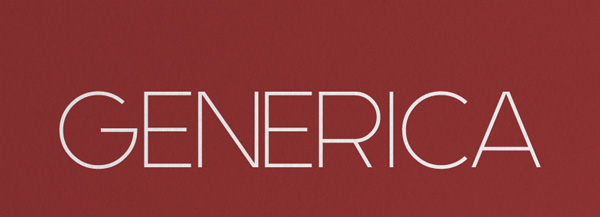 1.Fresh Free Font Of The Day  Generica