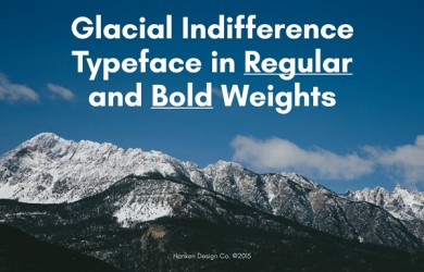 1.Fresh Free Font Of The Day  Glacial Indifference