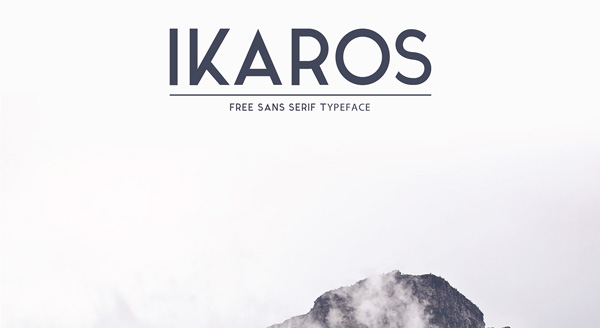 1.Fresh Free Font Of The Day  Ikaros