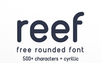 1.Fresh Free Font Of The Day  Reef