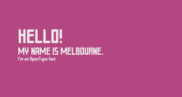2.Fresh Free Font Of The Day  Melbourne