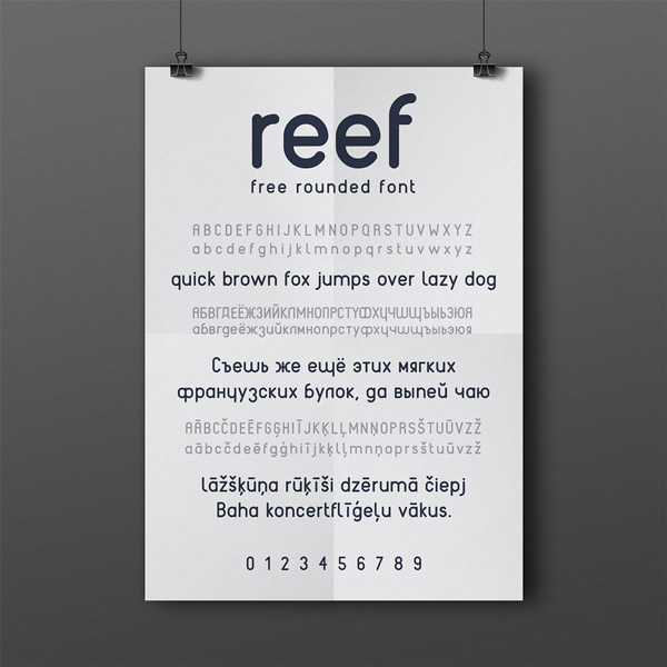 4.Fresh Free Font Of The Day  Reef