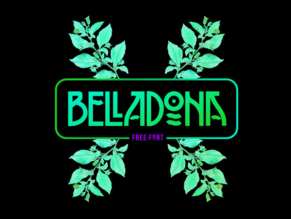 1.Fresh Free Font Of The Day  Belladona