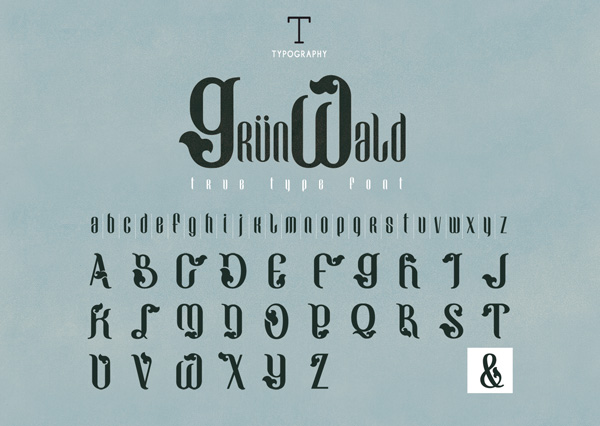 1.Fresh Free Font Of The Day  GRÜNWALD
