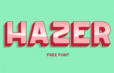 1.Fresh Free Font Of The Day  Hazer