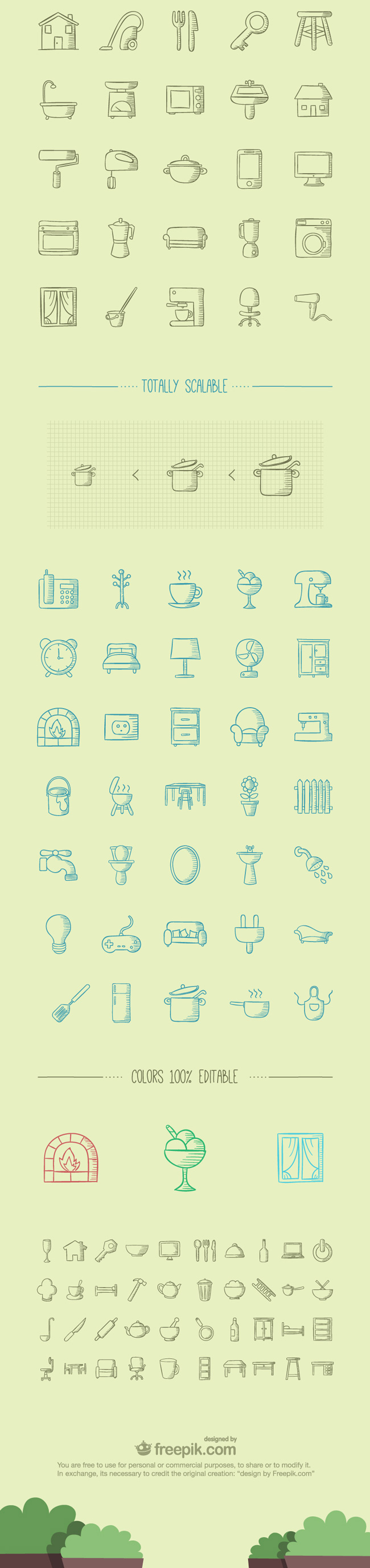 2.100 Handmade Icons About Home Stuff