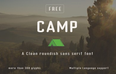 1.Fresh Free Font Of The Day  Camp