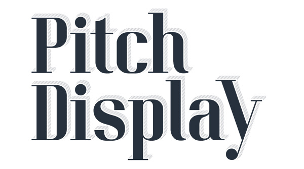 1.Fresh Free Font Of The Day  Pitch Display
