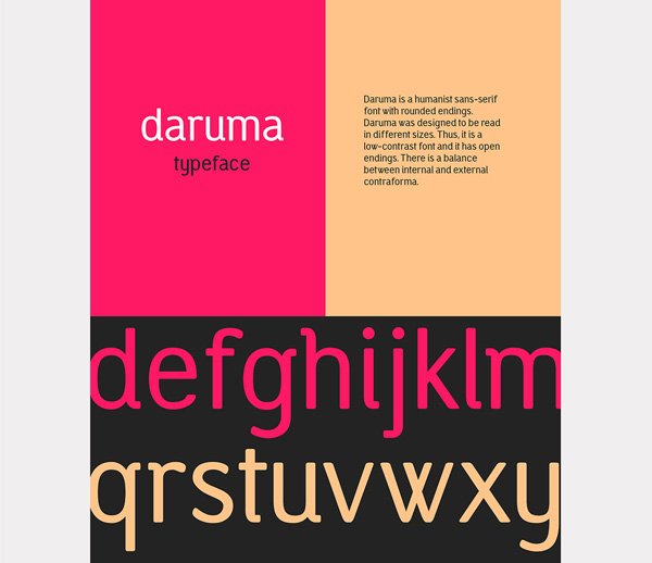 2.Fresh Free Font Of The Day  Daruma