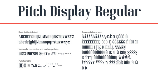 3.Fresh Free Font Of The Day  Pitch Display