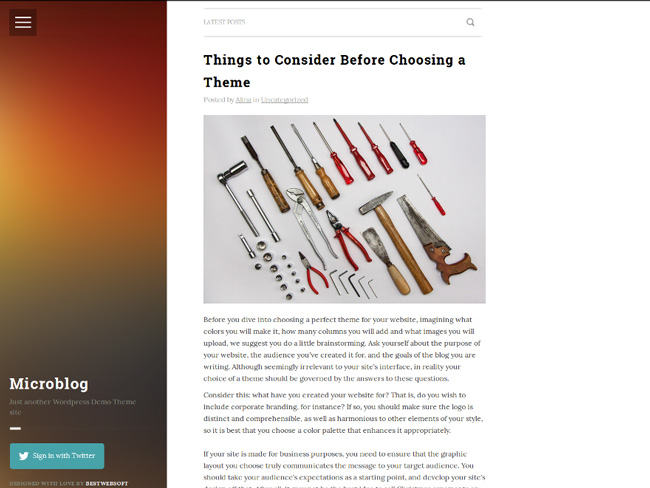 6.new wordpress theme