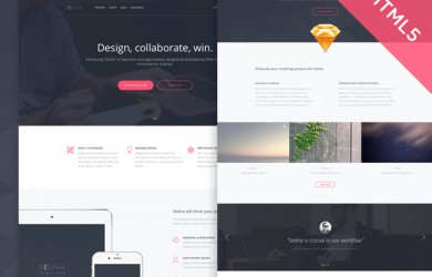 Responsive HTML5 One Page Website Template