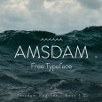 1.Fresh Free Font Of The Day  Amsdam