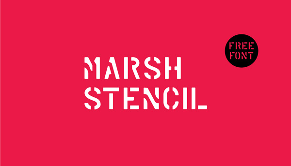 1.Fresh Free Font Of The Day  Marsh Stencil