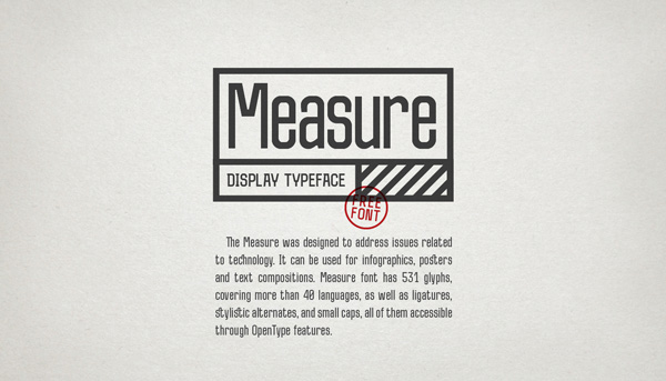 1.Fresh Free Font Of The Day  Measure
