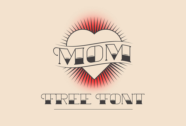 1.Fresh Free Font Of The Day  Mom