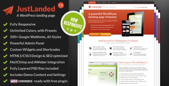 1.wordpress landing page theme