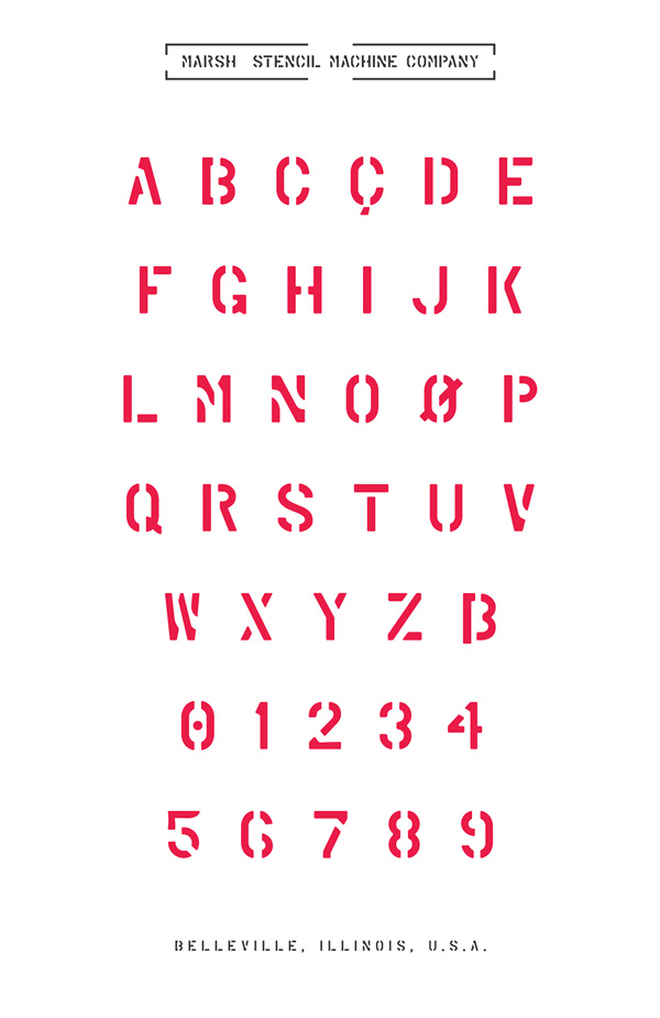 3.Fresh Free Font Of The Day  Marsh Stencil