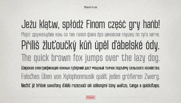 3.Fresh Free Font Of The Day  Measure