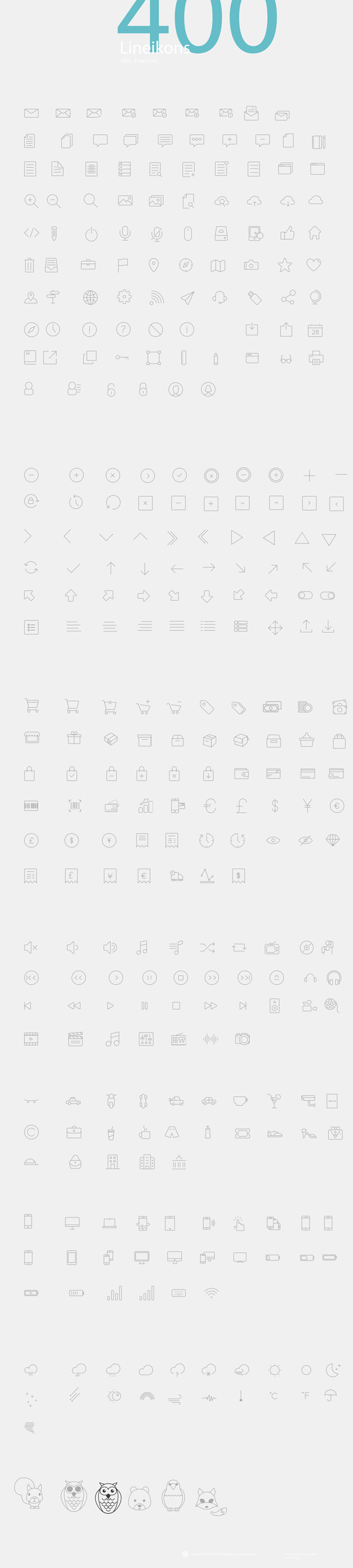 10.thin line icons
