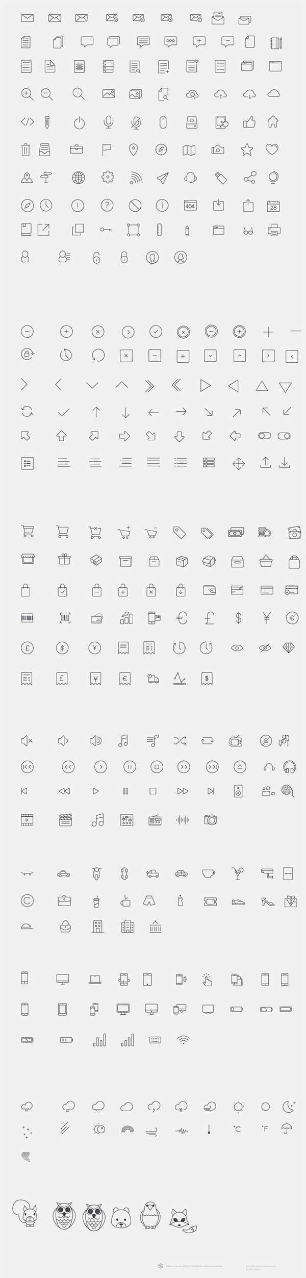 12.thin line icons