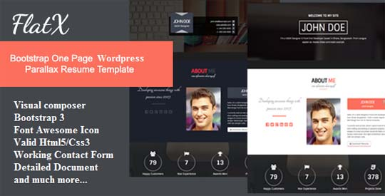 Wordpress Resume Template  Resume Templates And Resume Builder