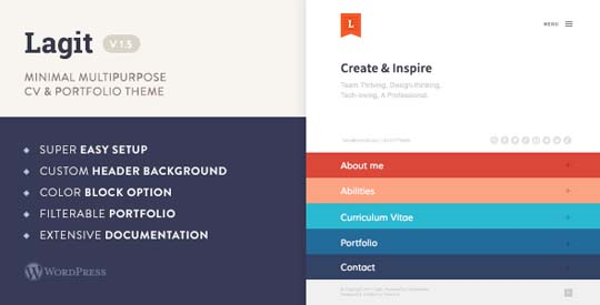 30  modern cv  resume wordpress themes