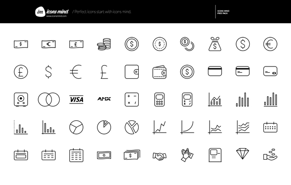 9.thin line icons