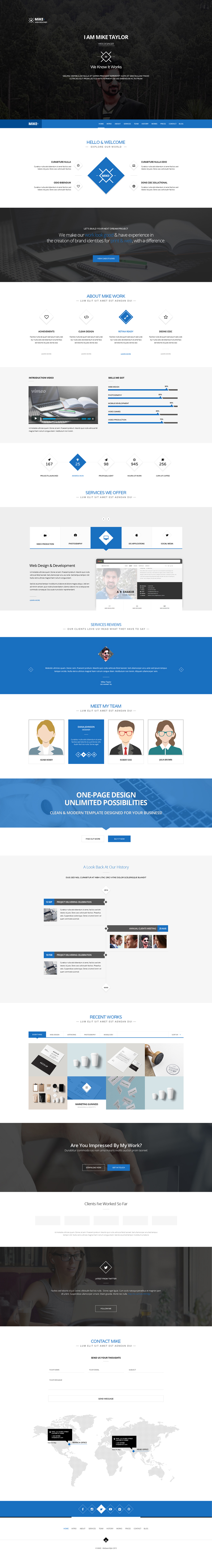 one-page psd-template