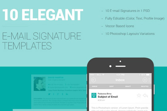 10 free email signature templates designbeep for Free email signature template