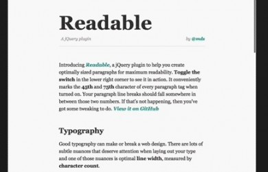 readable jquery plugin feature