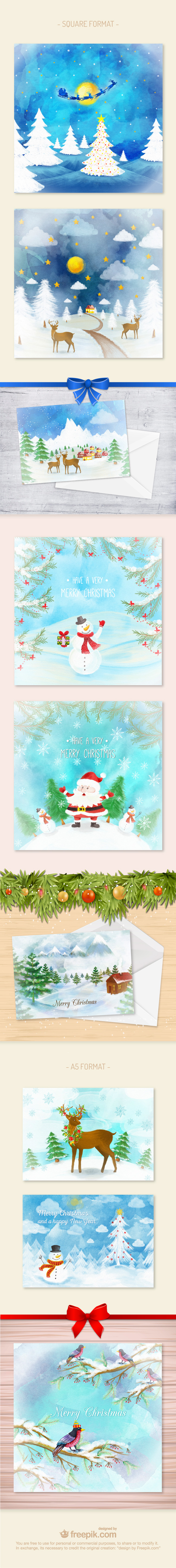 Watercolor-Christmas-cards-01