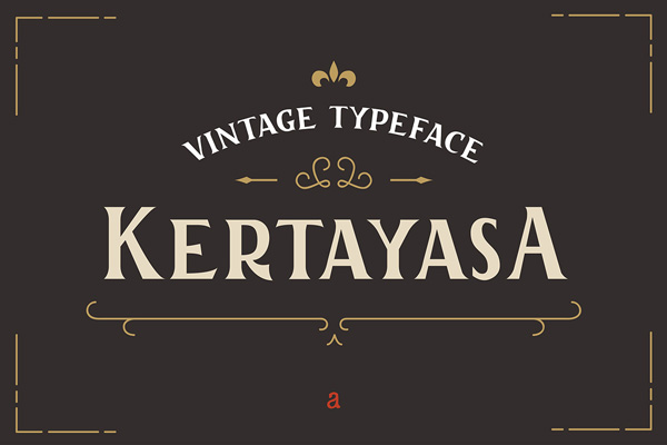 1.Free Font Of The Day  Kertayasa