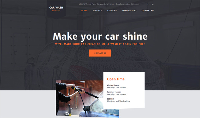 car-wash-website-template
