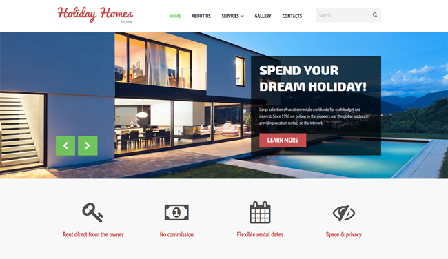 holiday-homes-rent-template