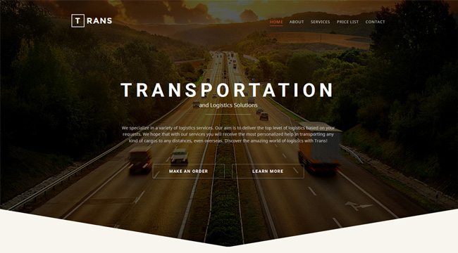 transportation-responsive-website-template