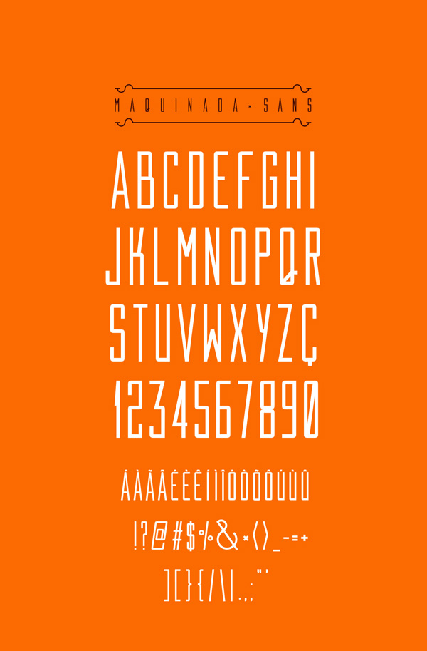 2.Free Font Of The Day  Maquinada