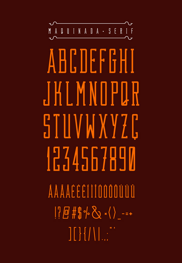 3.Free Font Of The Day  Maquinada