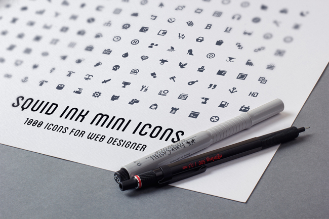 1000 New FREE Vector Mini Icons For Web Designers (PSD / AI / EPS / PNG / SVG)