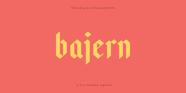 1.Free Font Of The Day  Bajern