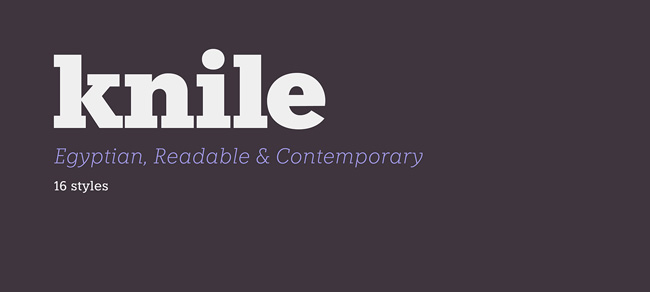 1.Free Font Of The Day  Knile