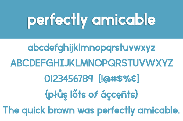 2.Free Font Of The Day  Perfectly Amicable