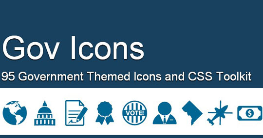 Govicons – Government Themed Icons and CSS Toolkit   Designbeep