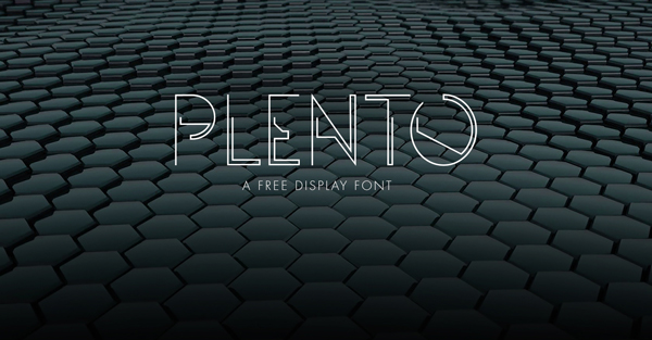 1.Free Font Of The Day  Plento