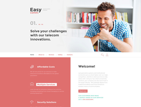 Communications-Responsive-Template