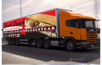1.Billboard and Truck Mockup