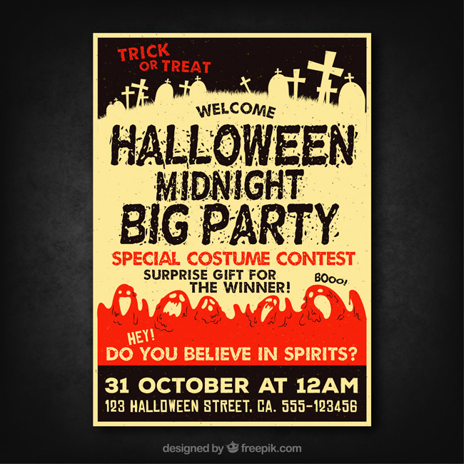 Free Halloween Poster And Banner Templates Exclusive