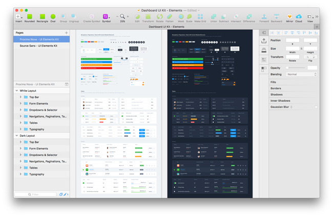 a huge free dashboard ui elements  photoshop  u2013 sketch